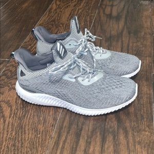 grey adidas alpha bounce shoes